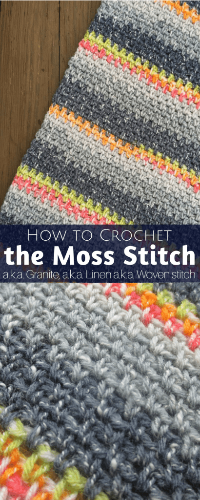 How To Crochet The Moss Stitch Writtenvideo Tutorial