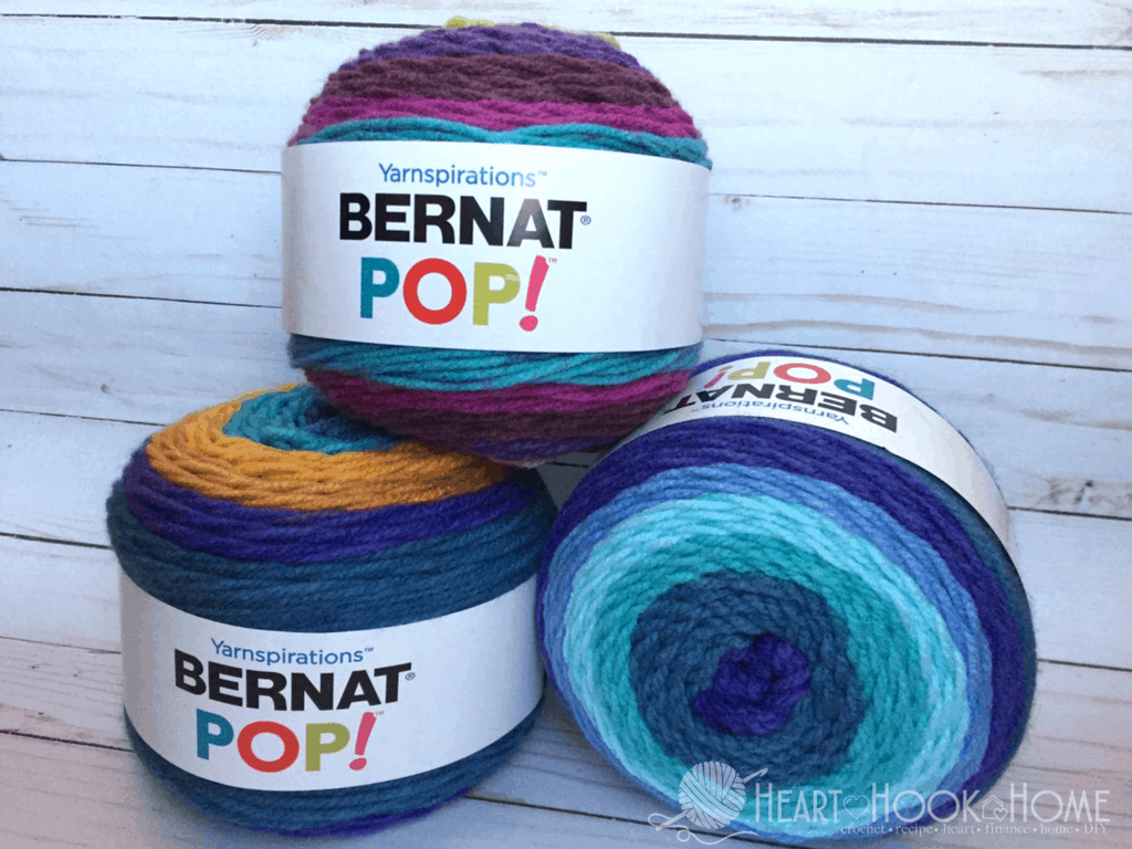 The Difference in Bernat Pop! Yarn Cakes, Caron Cakes