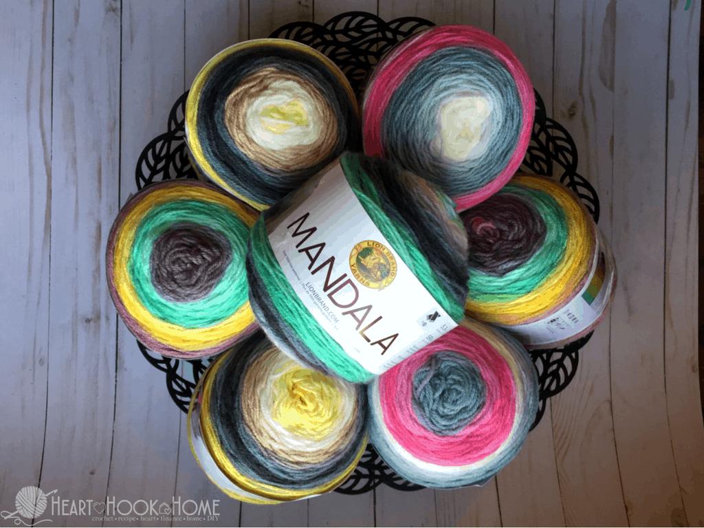 Mandala Yarn Cakes