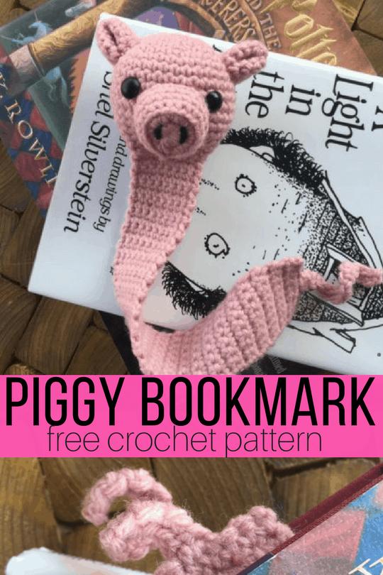 Amigurumi Pig Bookmark Crochet Pattern
