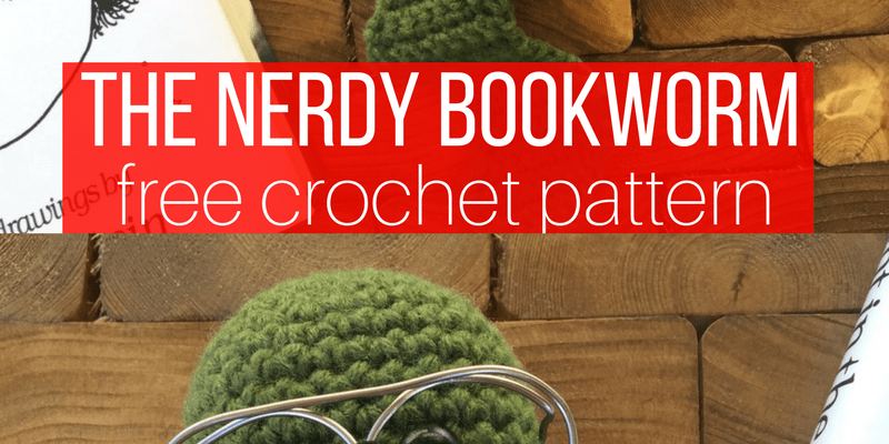 The Nerdy Bookworm Bookmark Free Crochet Pattern