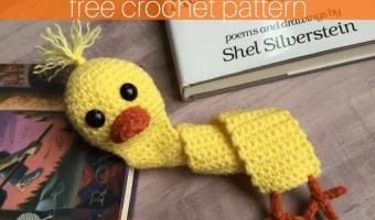 Quacktastic Duck Bookmark Free Crochet Pattern