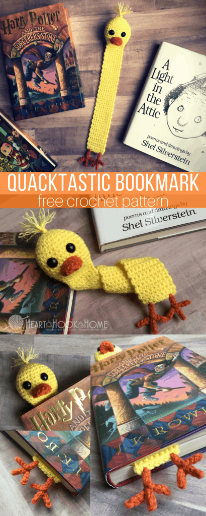 Quacktastic Duck Bookmark Free Crochet Pattern