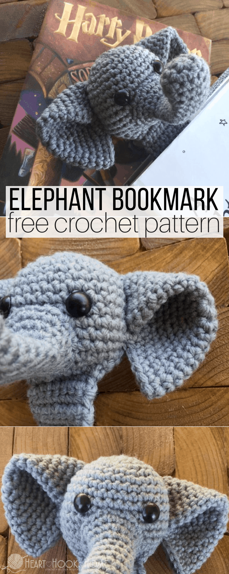 Baby Elephant Crochet Applique Pattern • Kerri's Crochet | 2000x800