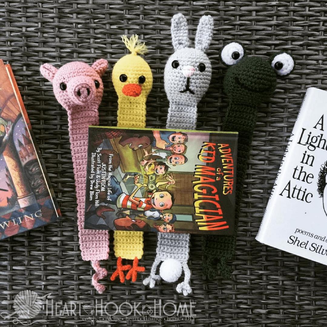 Animal Bookmark Crochet Pattern