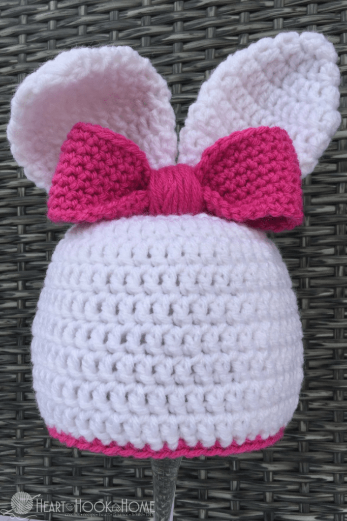 1de12ab44a0 Bunny Beanie with Ears Free Crochet Pattern for Easter
