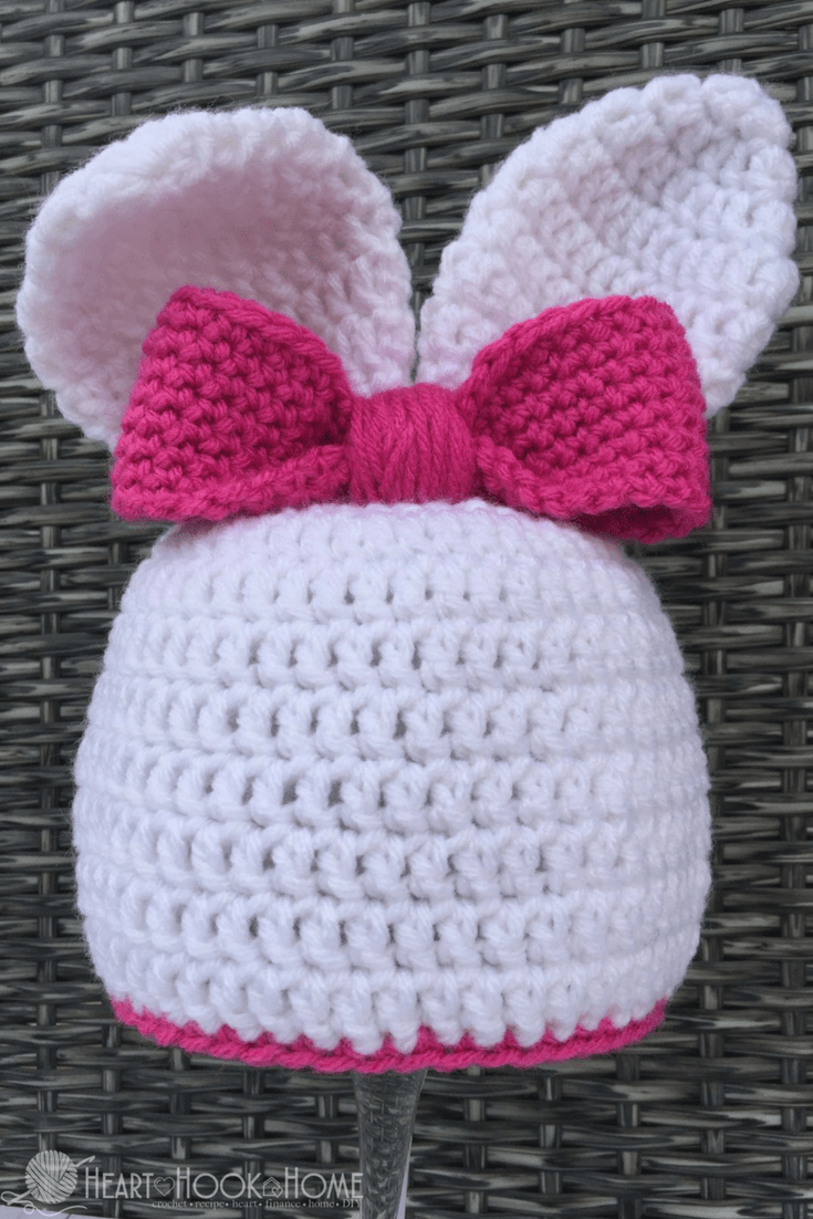 Bunny Beanie with Ears Crochet Pattern