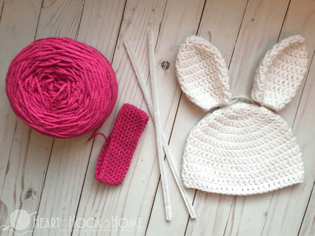 Bunny Beanie with Ears Free Crochet Pattern