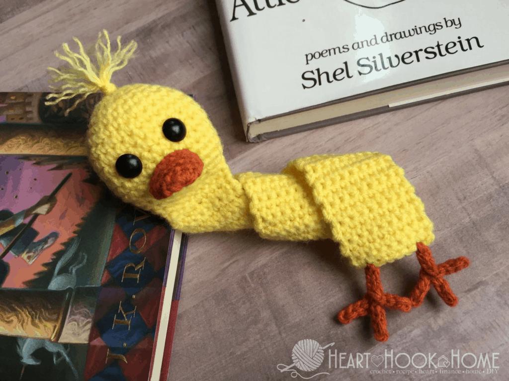 Amigurumi Duck Tutorial : Duck bookmark free crochet pattern