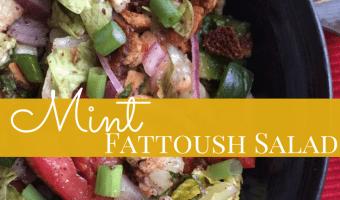 Minty Fattoush Salad Recipe