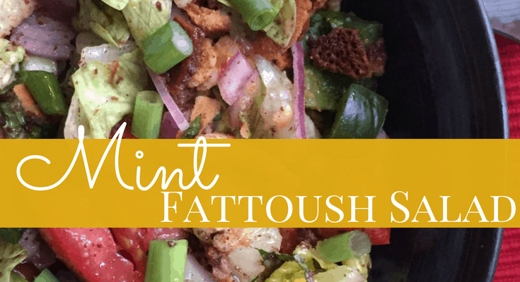 Minty Fattoush Salad Recipe
