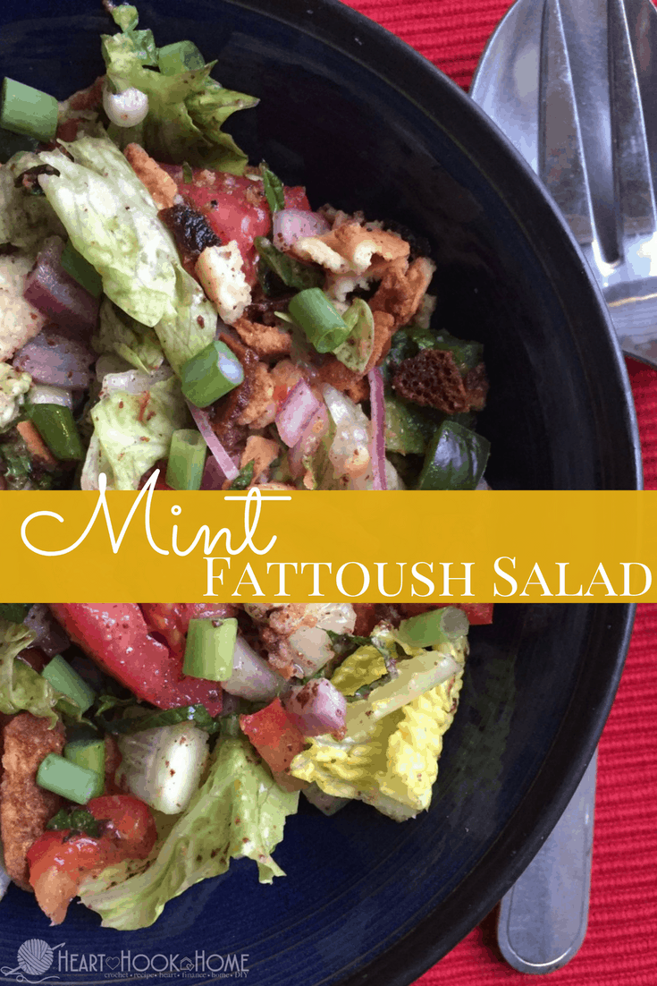 Mint Fattoush Salad Recipe