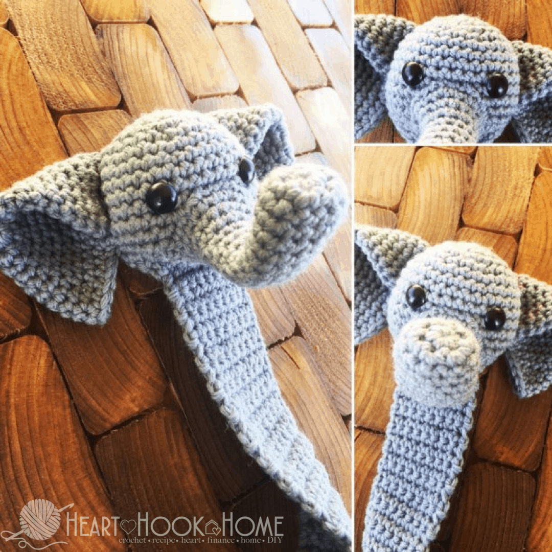 Webster the Elephant Bookmark Amigurumi Crochet Pattern