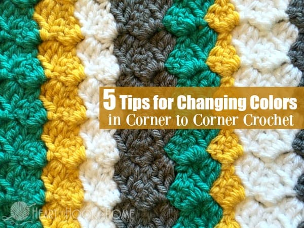 5 Tips For Changing Colors In Corner To Corner Crochet C2c