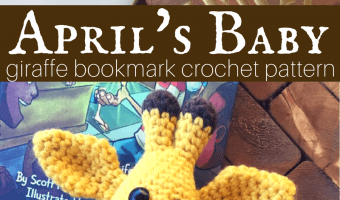 April's Baby Giraffe Bookmark Amigurumi Crochet Pattern