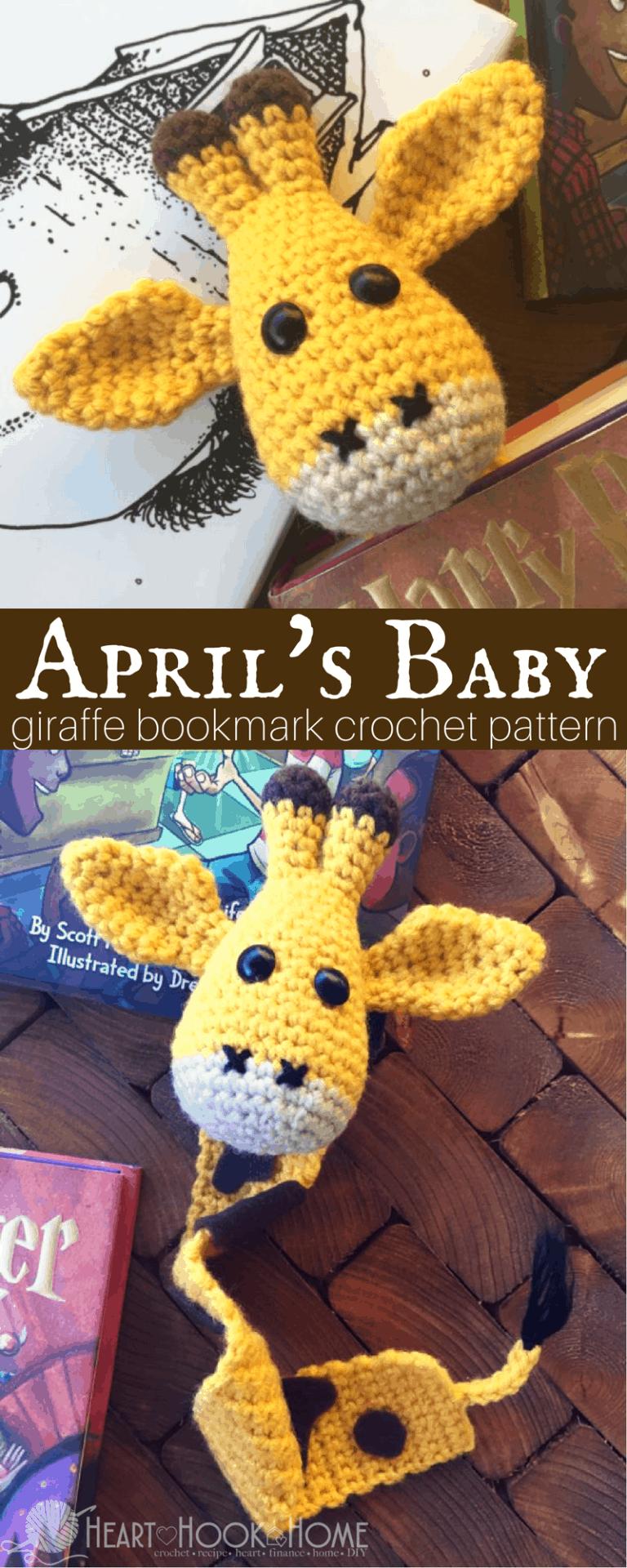 April\'s Baby: Giraffe Bookmark Amigurumi Crochet Pattern