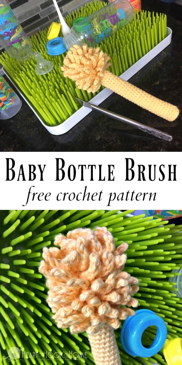 Baby Bottle Cleaning Brush Free Crochet Pattern