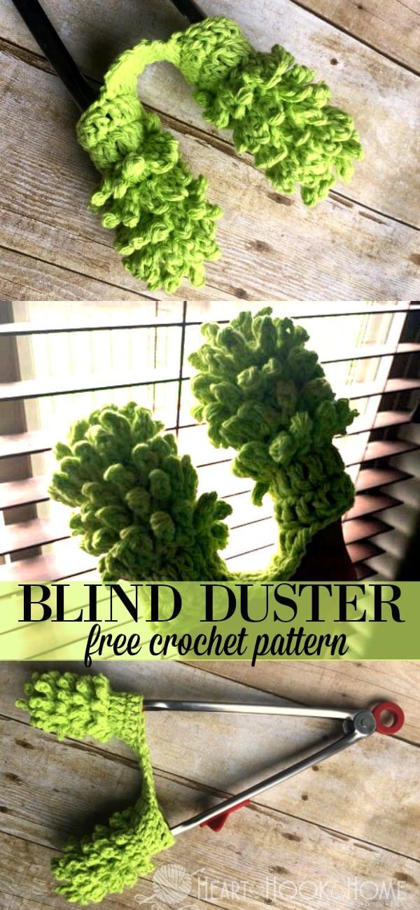 Duster for Cleaning Custom Wooden Blinds Crochet Pattern