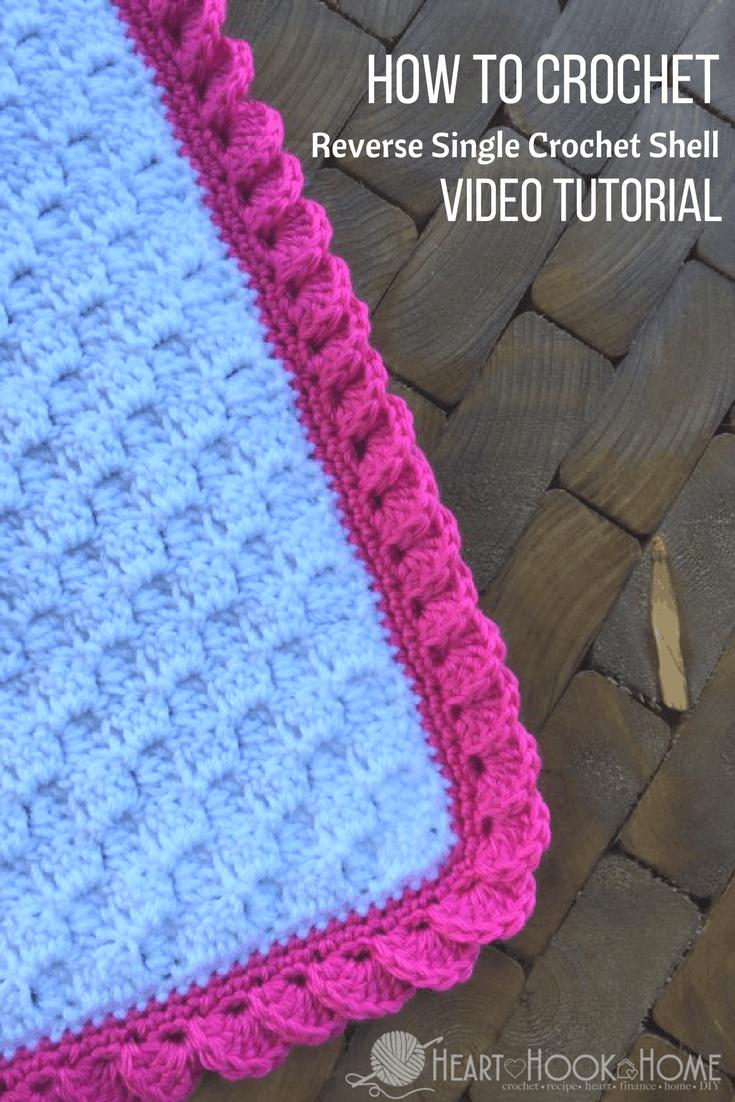 How to Crochet Borders: Reverse Shell Using Single Crochet