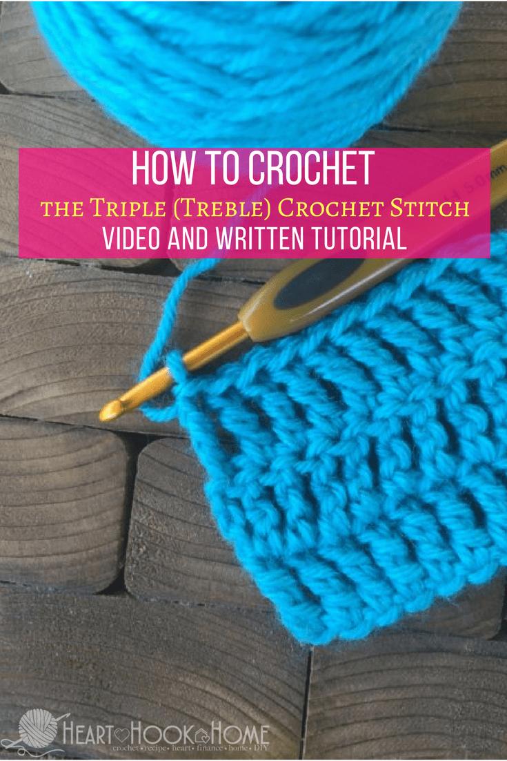 How to Crochet the Triple Crochet (Treble Crochet) Stitch