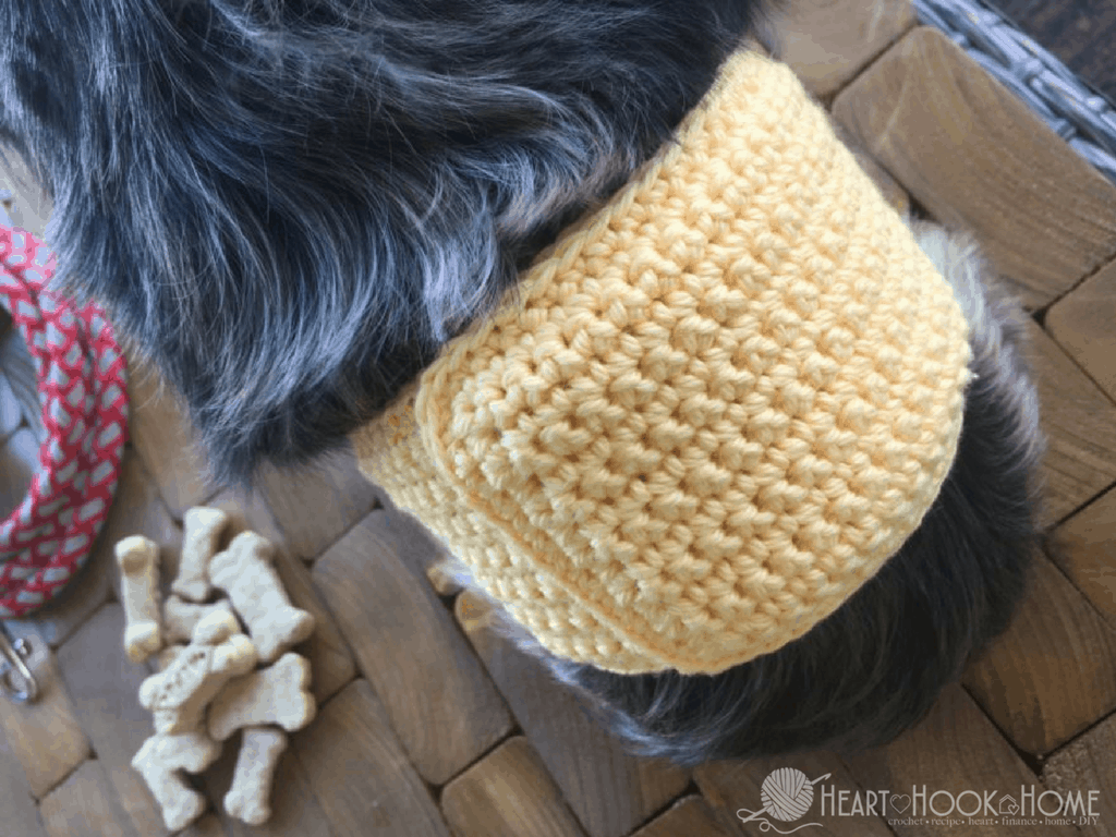Male Dog Incontinence Band Crochet Pattern