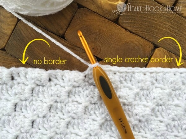 With and Without a Border in Crochet