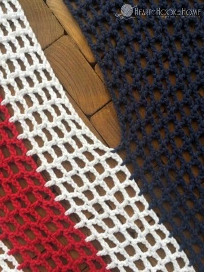 Crocheted Patriotic Vest Pattern using Filet Crochet