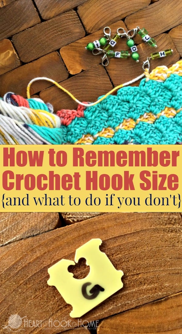 How to Remember Crochet Hook Size - and What to Do if You Don't