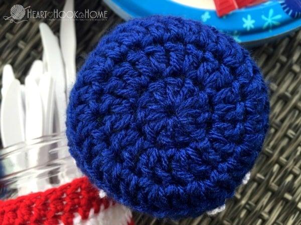 Patriotic Mason Jar Coozy Crochet Pattern