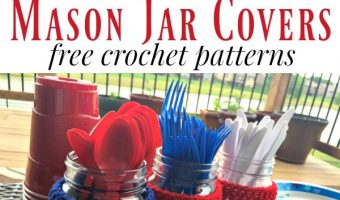 Patriotic Mason Jar Covers Crochet Pattern