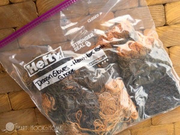 Saver Bags for Crochet Supplies
