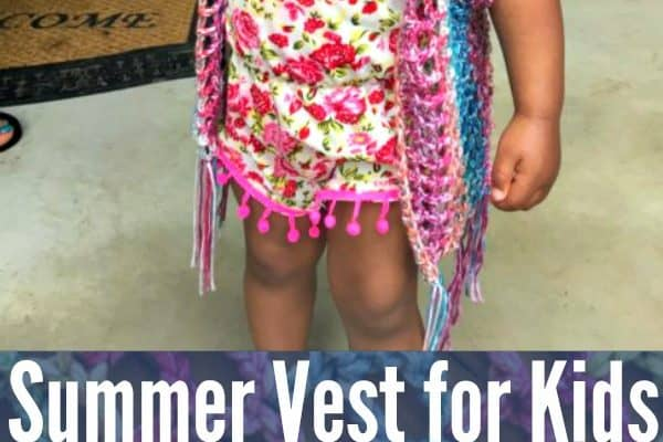 Crochet Summer Vest for Children free Patterns Available in FOUR Sizes!