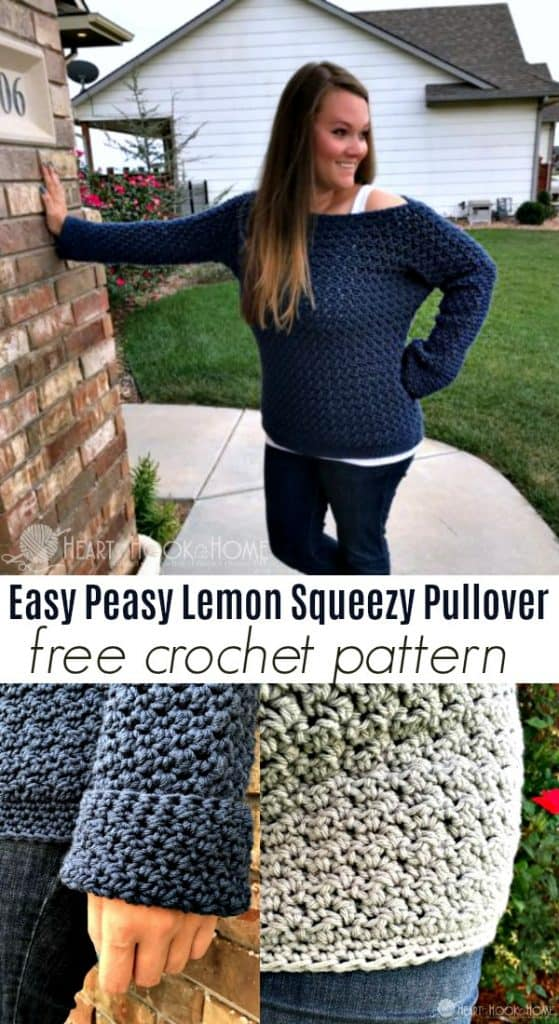 Easy Peasy Lemon Squeezy Pullover Crochet Pattern 5914d48d9