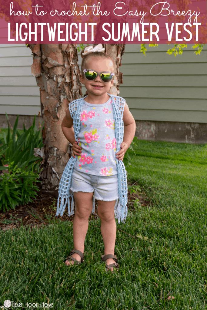 Kids Sizes Lightweight Summer Vest Pattern