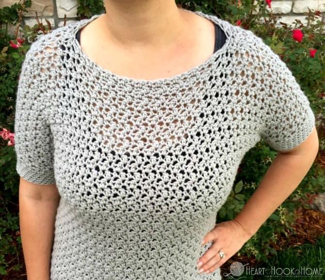 Lemon Peel Stitch Pullover Crochet Pattern