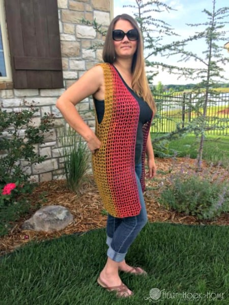 Lightweight Airy Vest Crochet Pattern