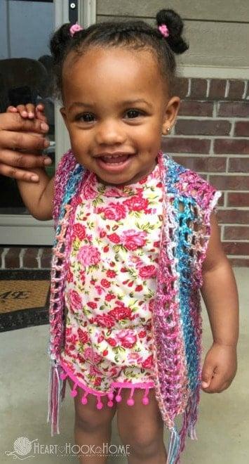Lightweight Summer Vest for Kids Crochet Patterns in Four Sizes