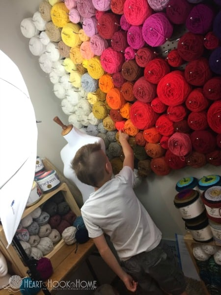 Selecting Yarn Colors to Make a Yarn Cake