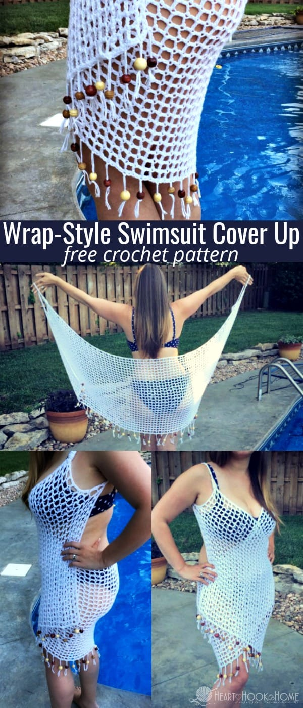 Swimsuit Cover Up Crochet Pattern by Heart Hook Home