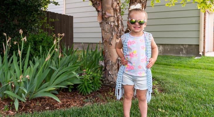 child sizes lightweight vest crochet pattern