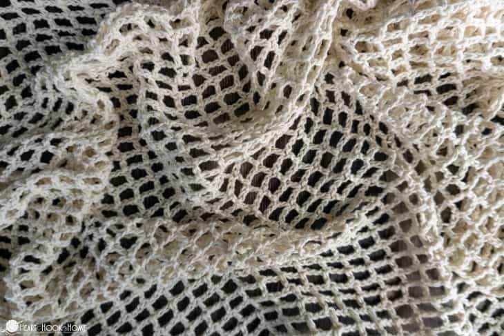 filet crochet vest