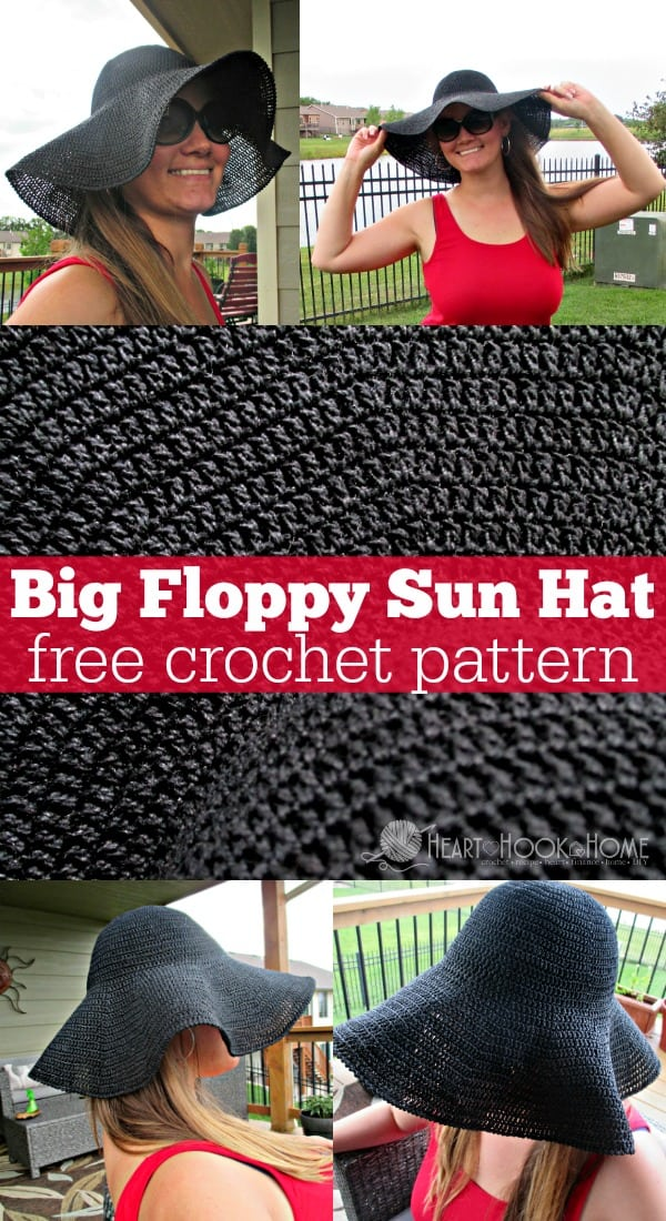 Big Floppy Sun Hat Free Crochet Pattern by Heart Hook Home