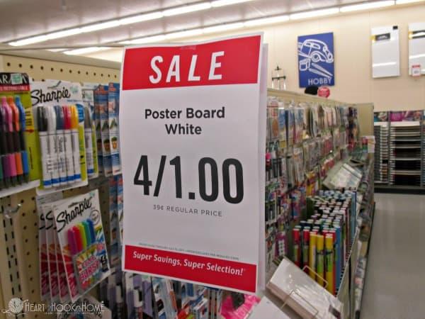 Cheap Poster Board at Hobby Lobby