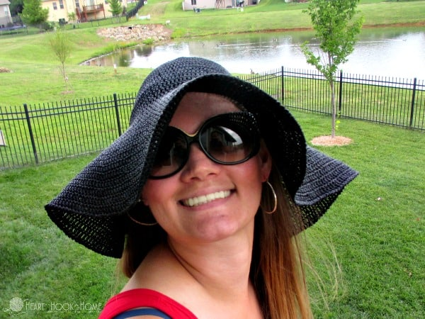 Floppy Sun Hat Crochet Pattern by Heart Hook Home