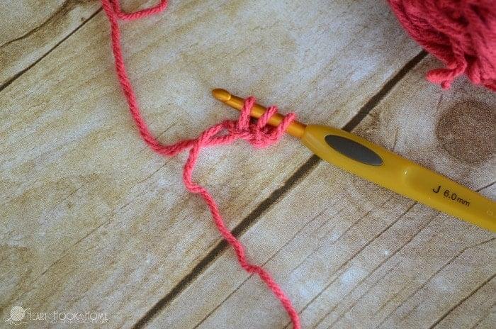 Foundation Half Double Crochet Step 3