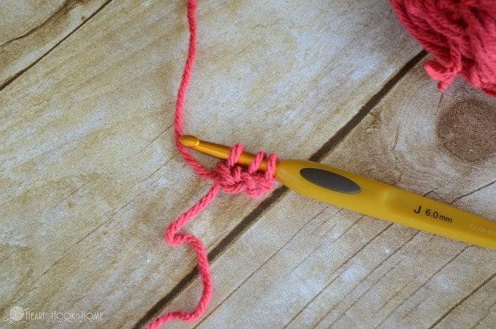 Foundation Half Double Crochet Step 4