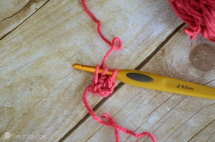 Foundation Half Double Crochet Step 7