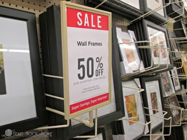 Frames Sale at Hobby Lobby