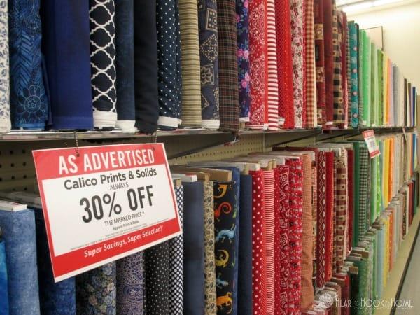 Hobby Lobby Fabric Deals