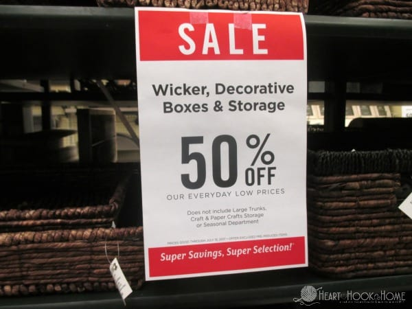 Hobby Lobby Sale Sign Exclusions